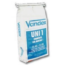 VANDEX UNI MORTAR 1 – cementinis hidroizoliuojantis remontinis mišinys, 25kg